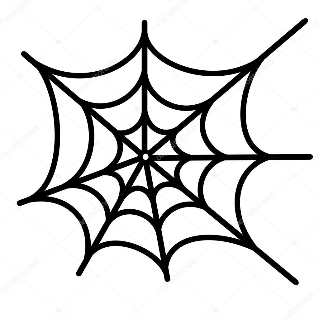 Spider Net Vector Background Stock Vector