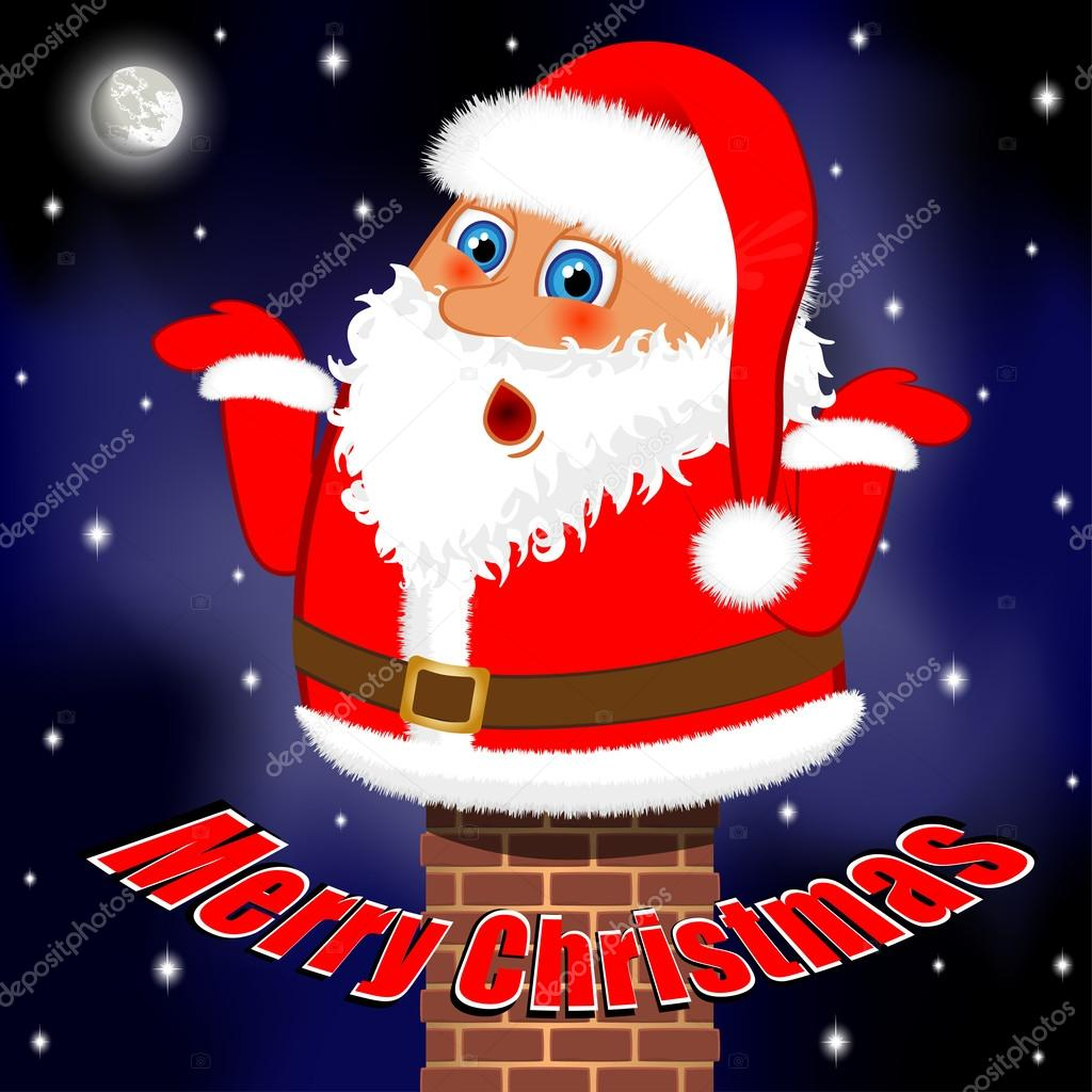 Frohliche weihnachten lustiger weihnachtsmann