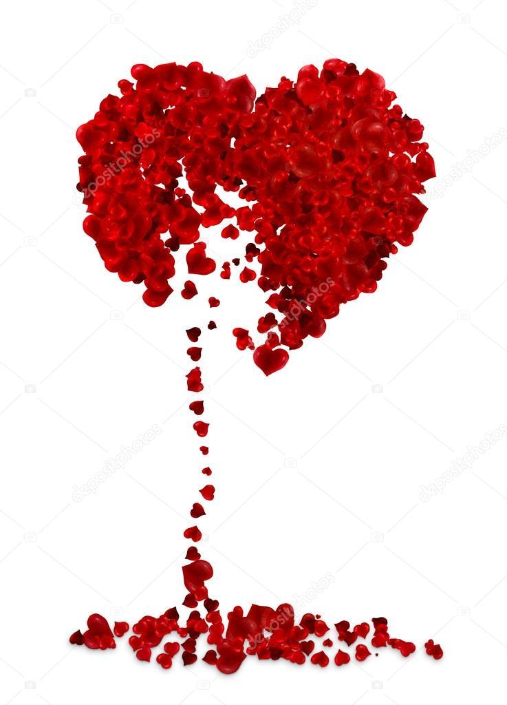Broken heart illustration