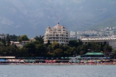 Yalta city view from the sea, Crimea, Ukraine