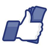 Like/Thumbs fel szimbólum ikon-val készpénz