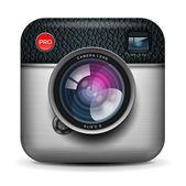 Vintage fotó kamera ikon, vector Eps10 kép