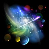 pozadí vesmíru, planety a jasné hvězdy v kosmu