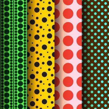 Seamless patterns, polka dots set