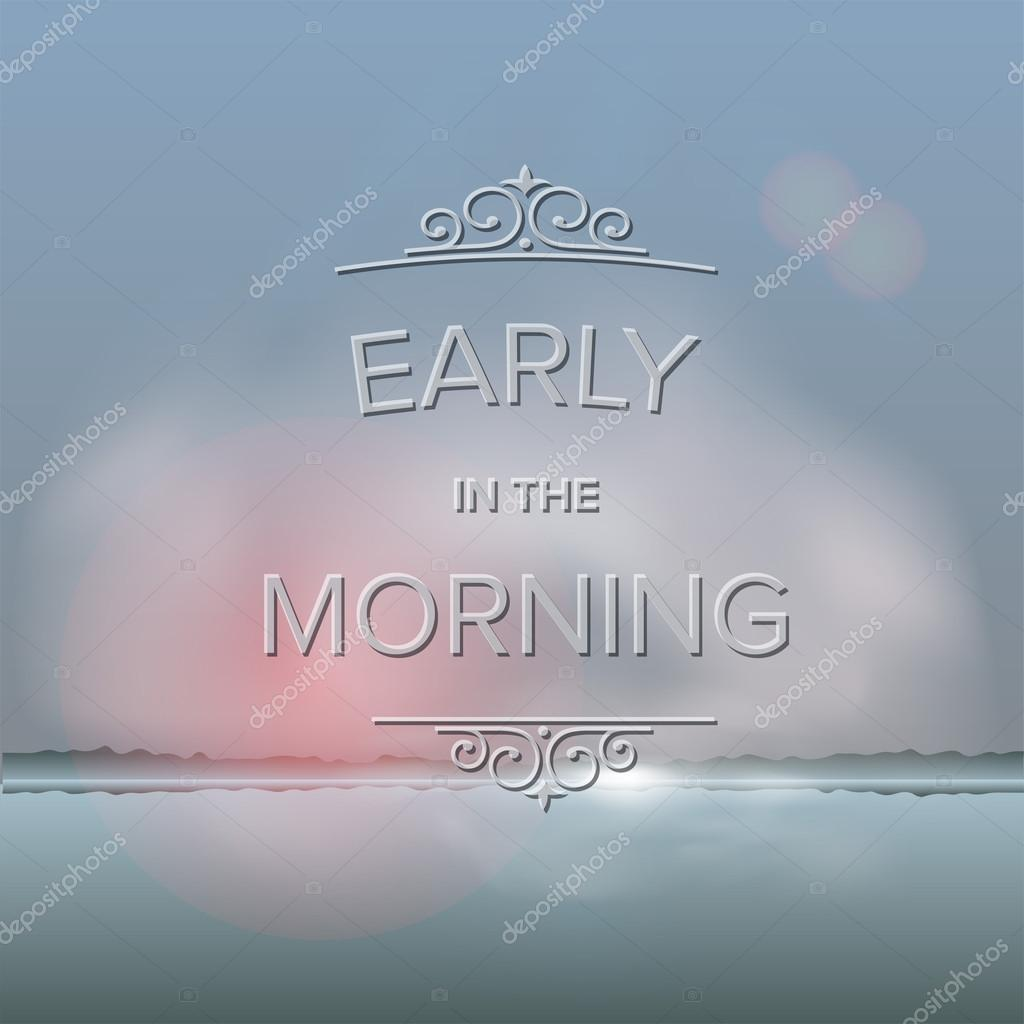 Misty morning background