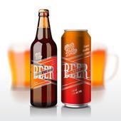 Pivní láhev a může