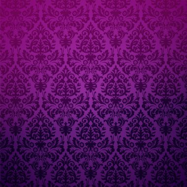 Damask seamless pattern in purple