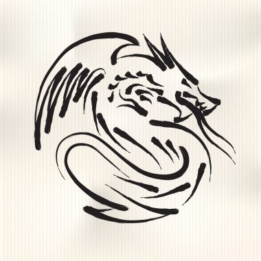 Chinese style Calligraphy for the Year of Dragon