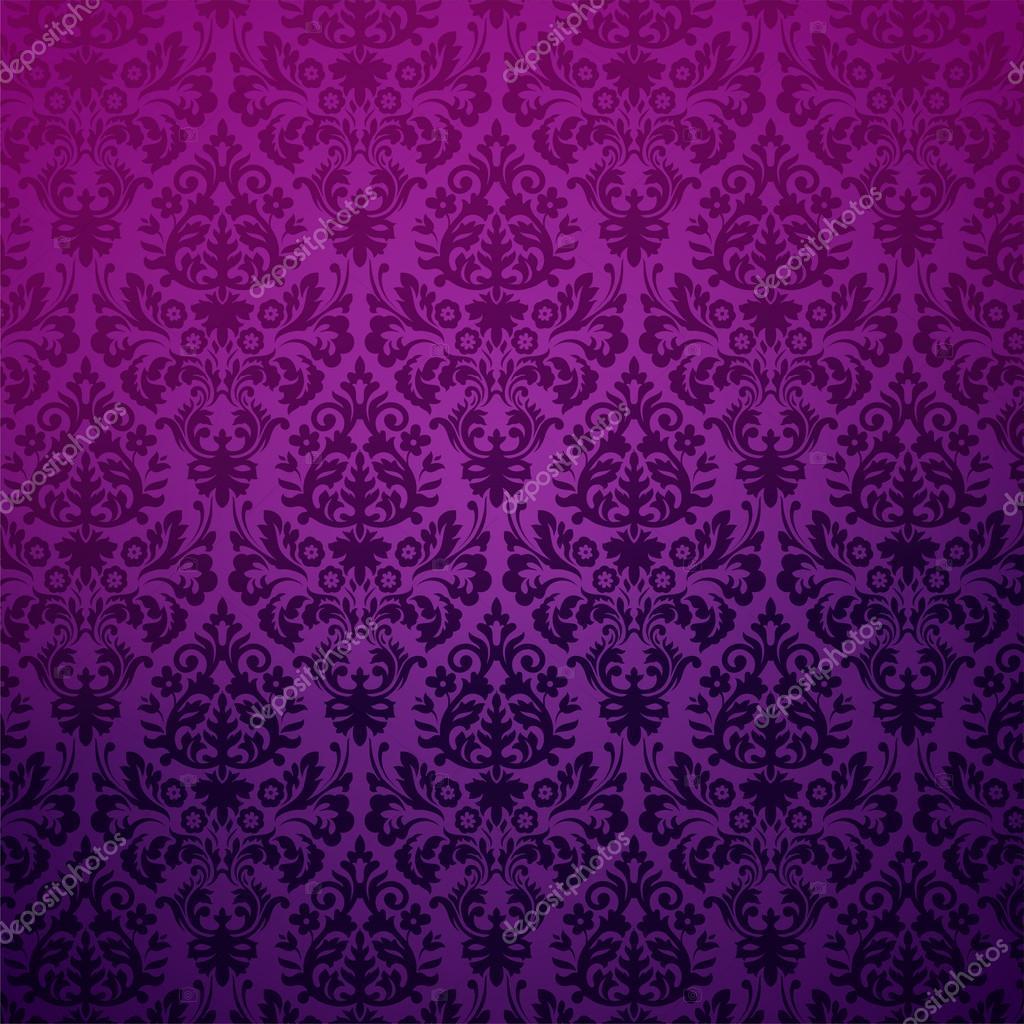 Damask seamless pattern in purple
