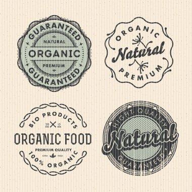 Vector set vintage organic labels