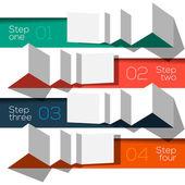 Modern design info grafikus sablon origami stílusú