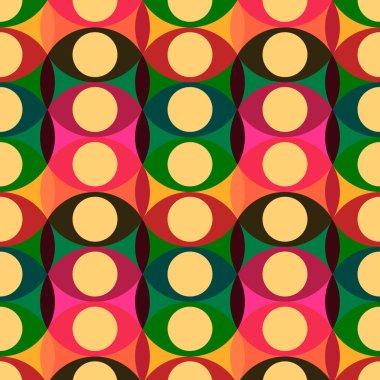 Seamless red yellow circles pattern
