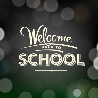 Back to school poster with text, vector Eps10 illustration. clip art vector