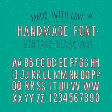 Handmade retro alphabet