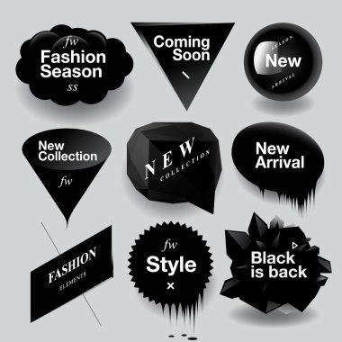 Fashion sale speech bubbles set