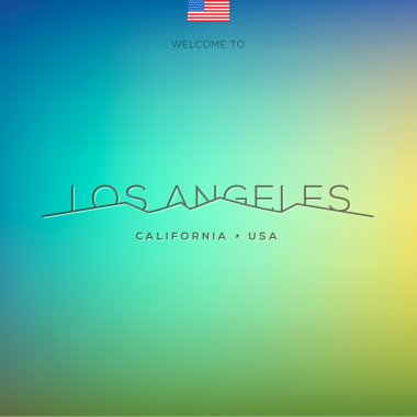 World Cities labels - Los Angeles.