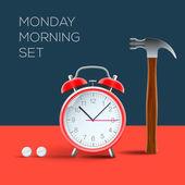 Koncept - nesnáším pondělí ráno