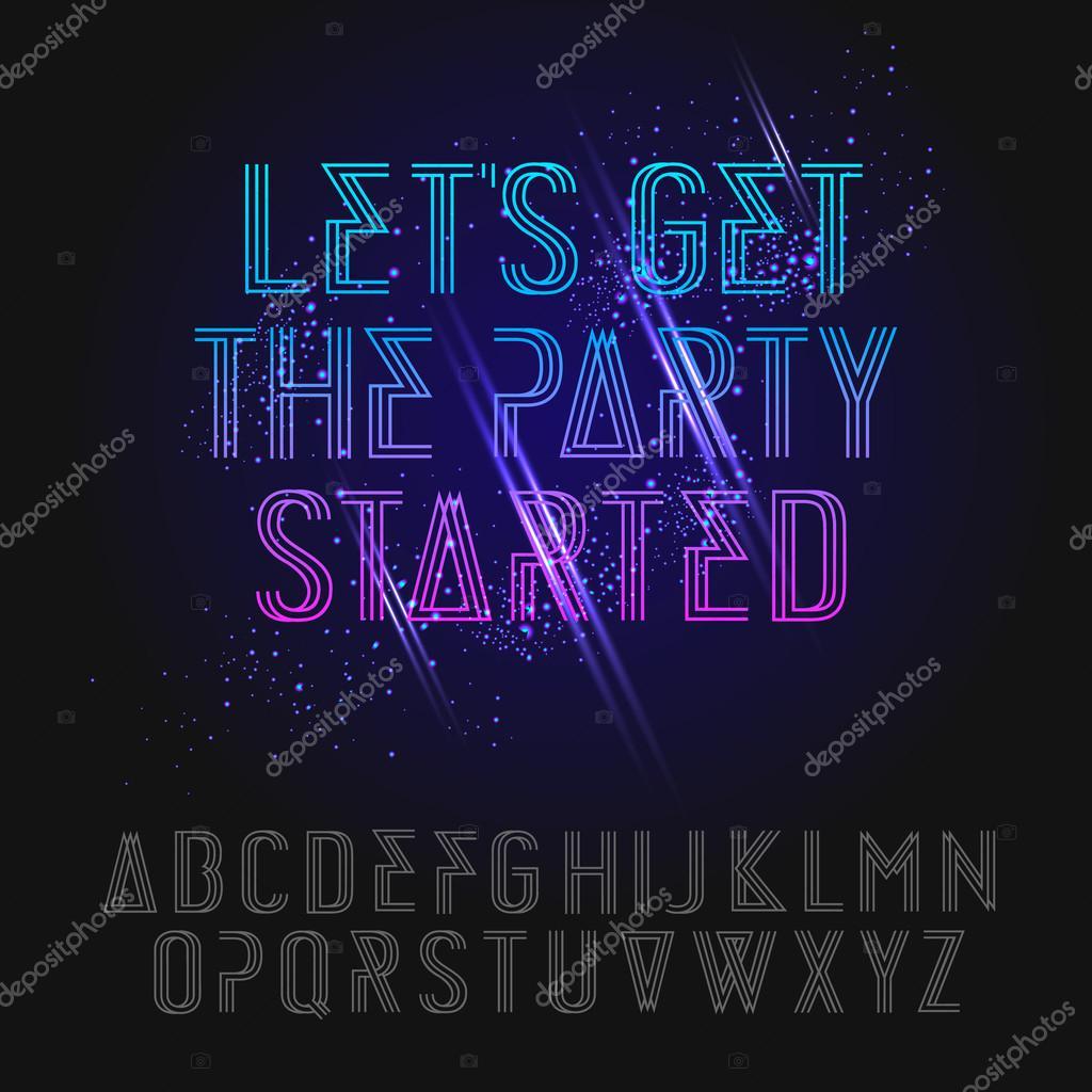 Neon party alphabet