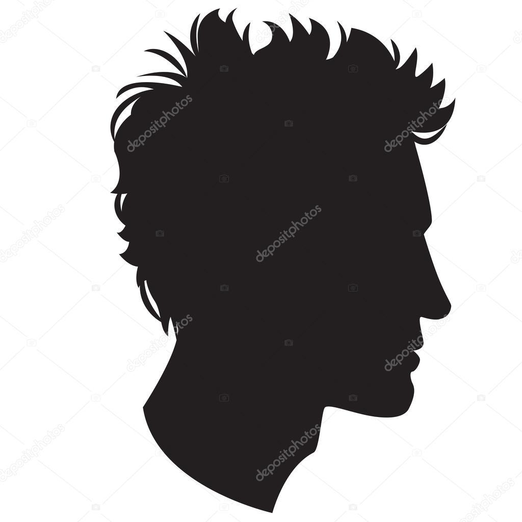 Mann Kopf Silhouette — Stockvektor © svsunny #50318435