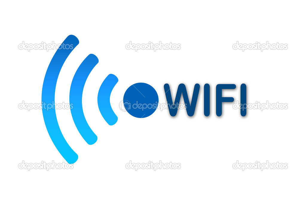 Wireless-Wifi-Netzwerk blau-Symbol — Stockfoto © Pixinooo #20458349