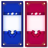 Fotografie Grußkarten, blau und Rosa