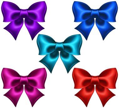 Silk colored bows