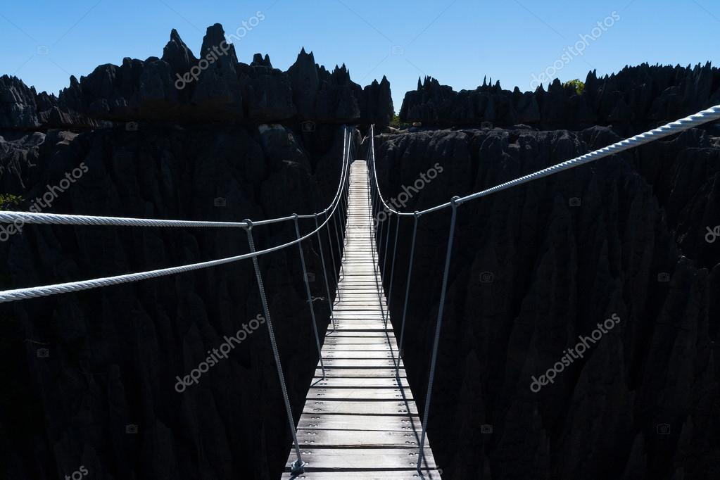 Wooden bridge in Madagascar
