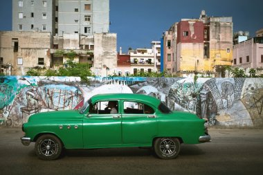 HAVANA, CUBA - JUNE 27: Vintage cars on the streets of Havana