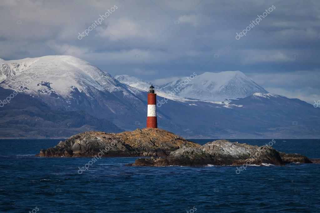 Lighthouse end of the world in the Beagle Channel