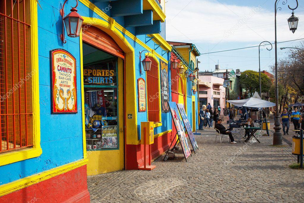 BUENOS AIRES MAY 01: Colorful Caminito street in the La Boca, Bu