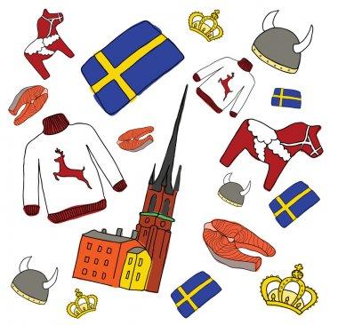 Vector symbols of Sweden