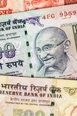 Indie Rupie peníze bankovky detail