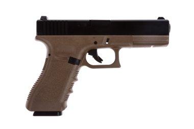 Two tones modern pistol on white back ground