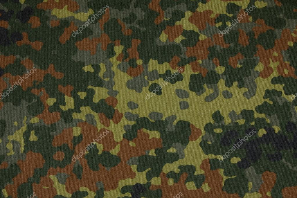 German Military Flecktarn Camouflage Fabric Texture