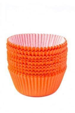 Orange cupcake baking cups