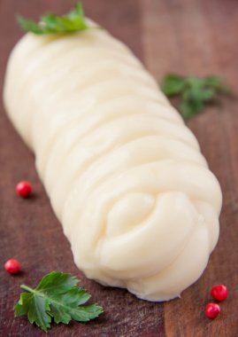Armenian soft cheese wrapped rings