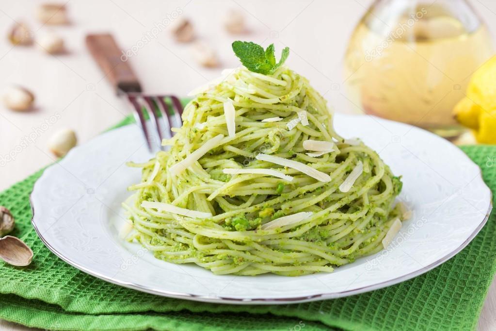 gröna ärtor pasta