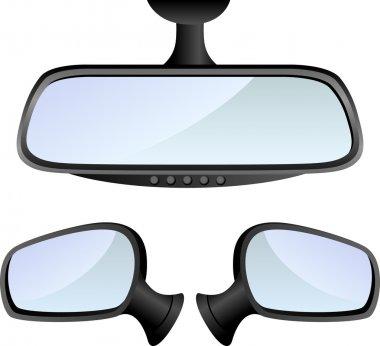 Car mirror set
