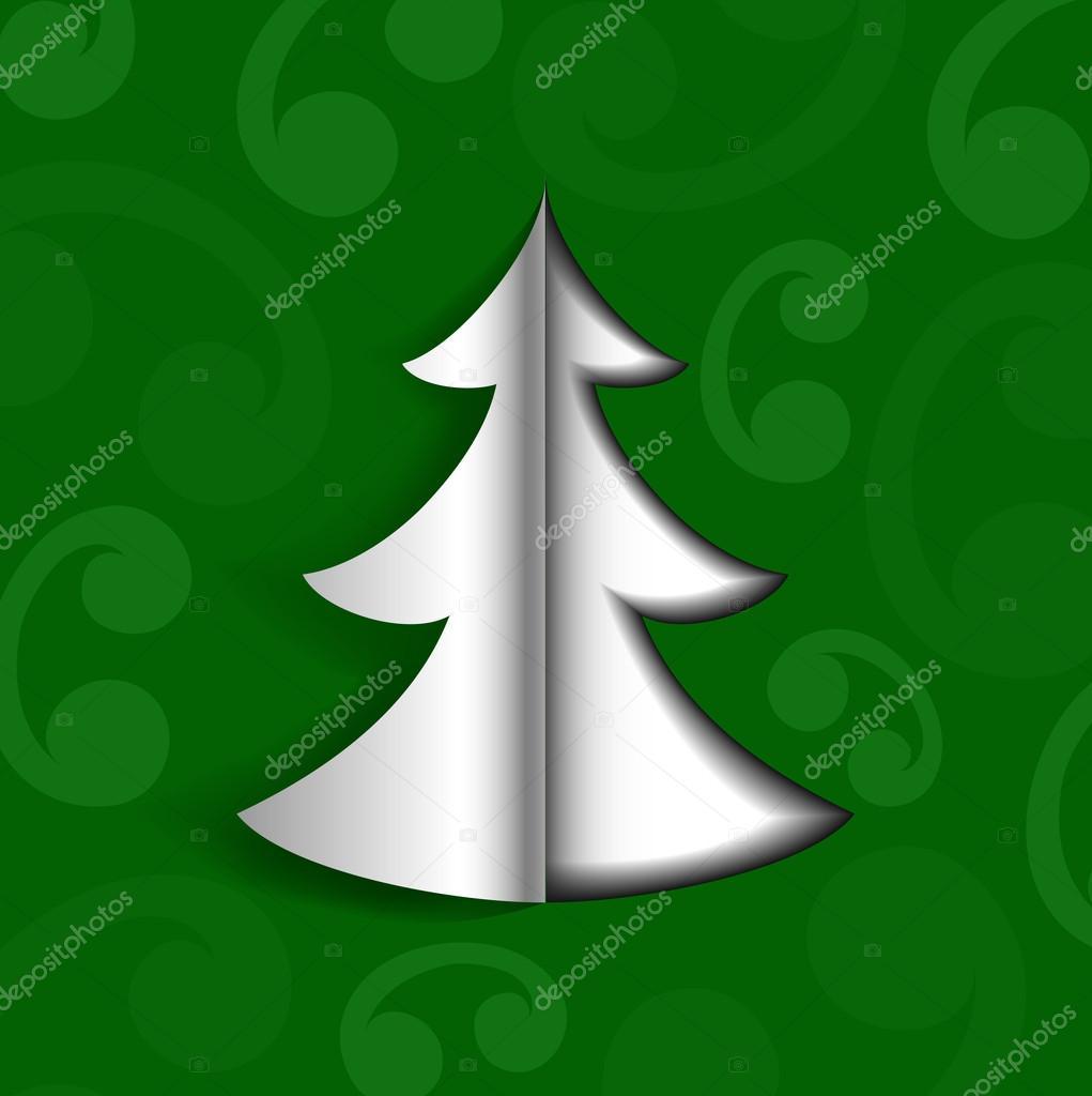 Weihnachtsbaum falten und schneiden
