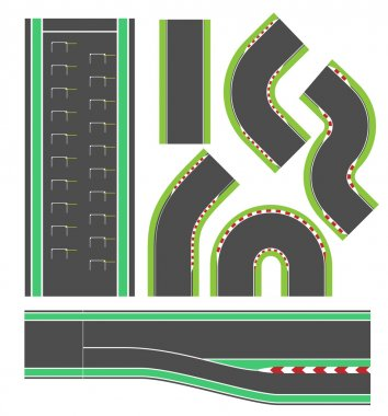 Formula race track line set