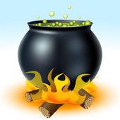Boszorkány üstben a tűz