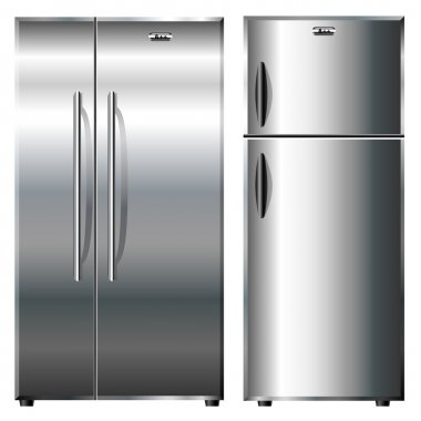 Metallic refrigerators