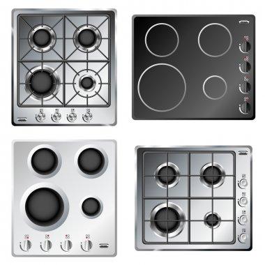Kitchen stove hob set