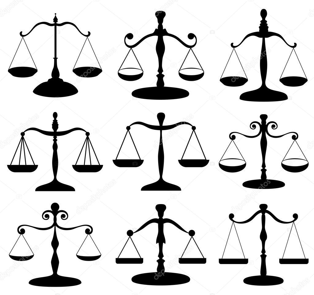 law scale symbol set — stock vector © helioshammer #25932531