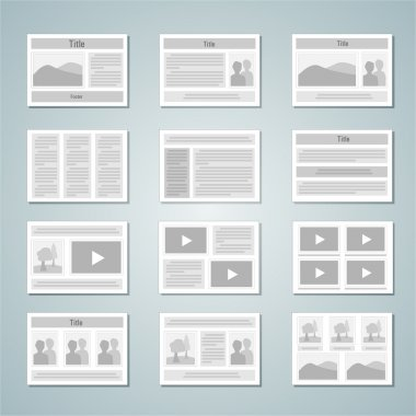 Page layout template set