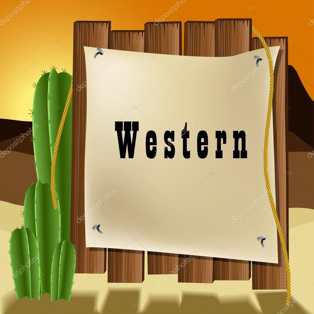 marco de texto occidental — Vector de stock © Helioshammer #27862657
