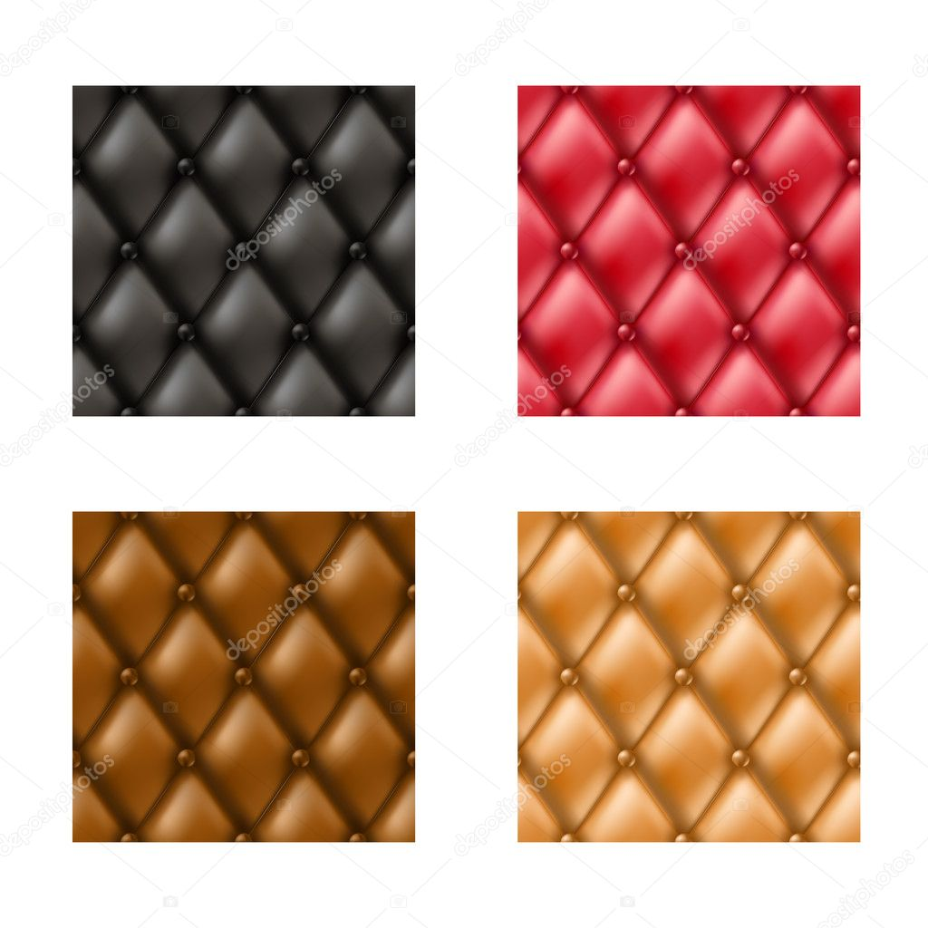 Leather Sofa Pattern Set Stock Vector Helioshammer