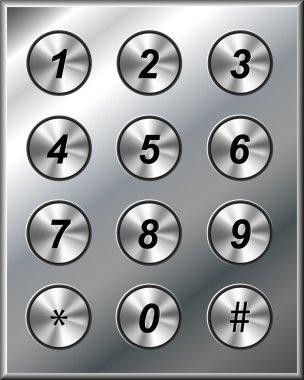 Metal phone keypad