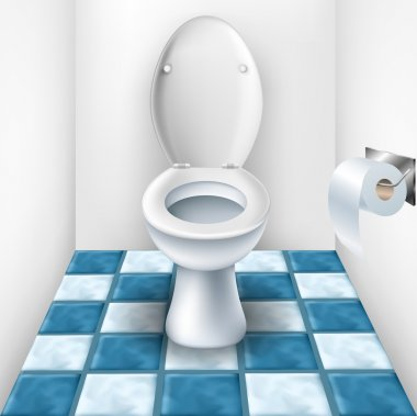 Bathroom with toilet and tile pattern