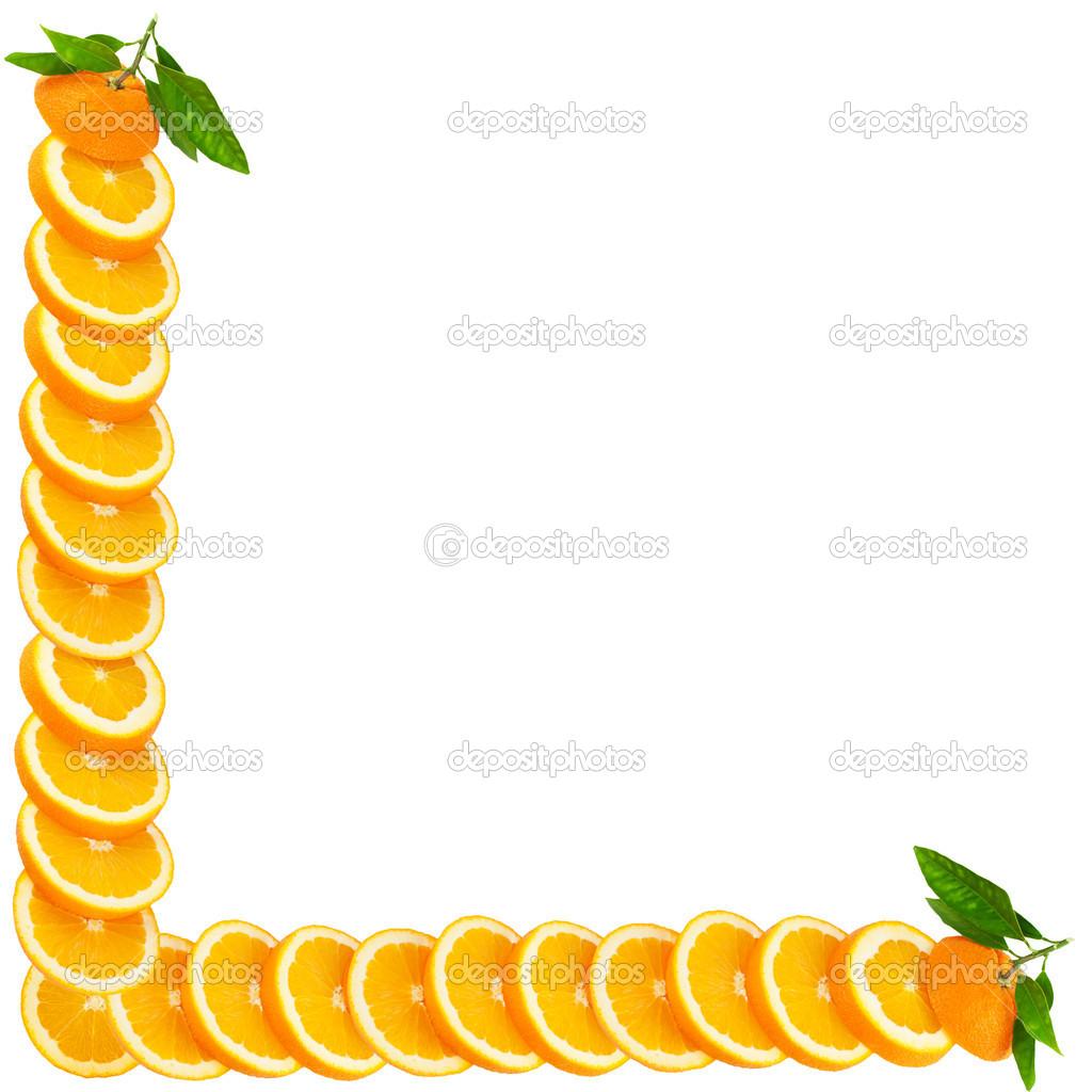 Orange macht einen Rahmen — Stockfoto © Denira #17167481